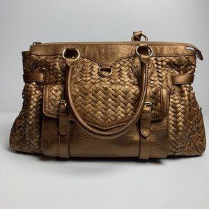 Cole Haan | Gold Village Weave Leather Handbag